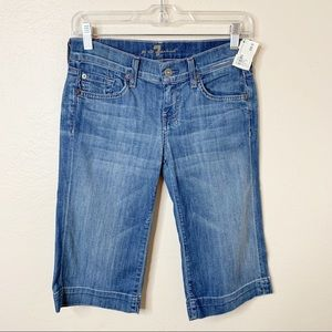 7 For All Mankind Dojo Hot Mama Bermuda Shorts  26
